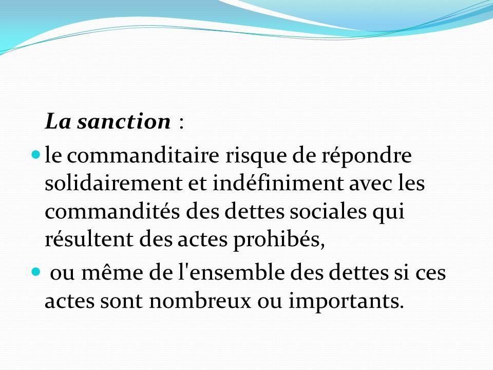 La sanction :
