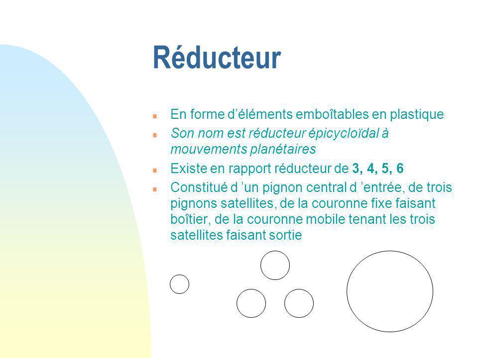 Réducteur En forme d'éléments emboîtables en plastique
