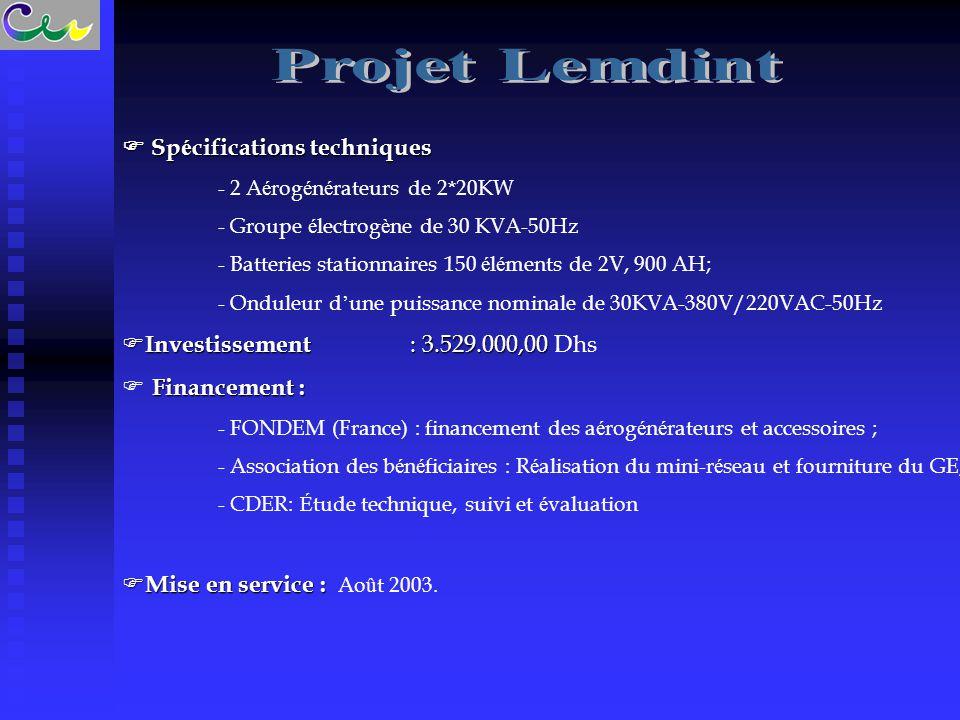 Projet Lemdint  Spécifications techniques