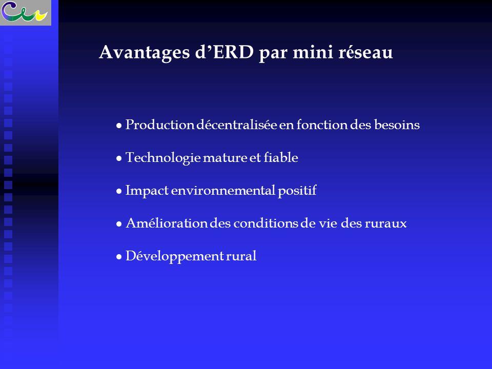 Avantages d'ERD par mini réseau