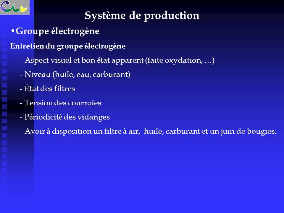 Système de production Groupe électrogène
