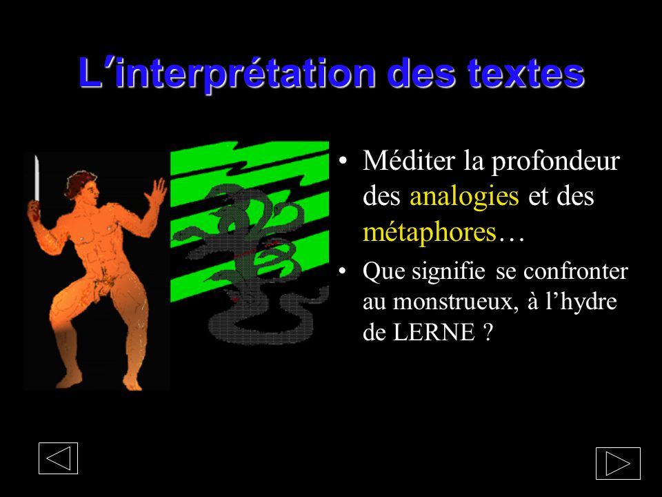 L'interprétation des textes