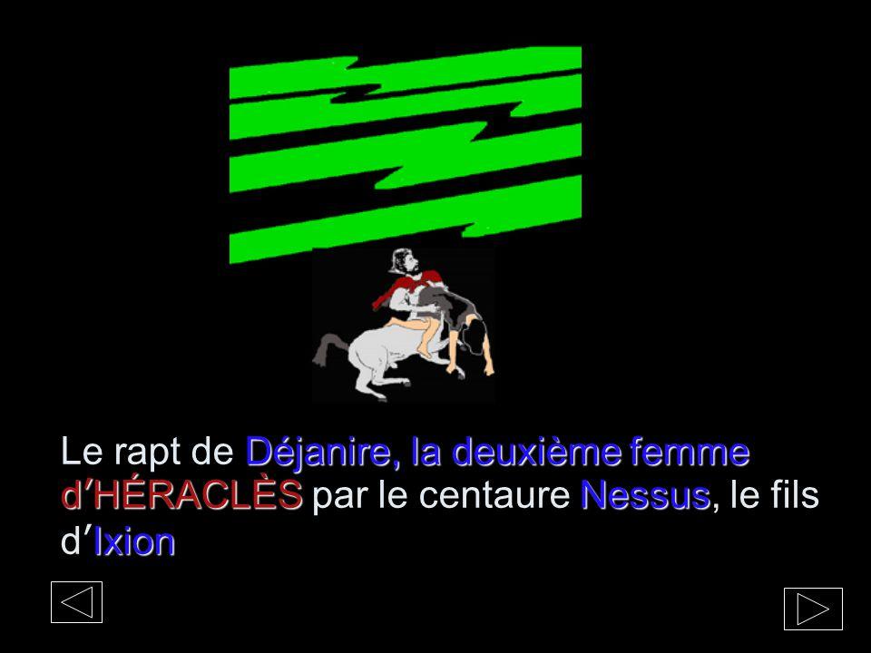 Le rapt de Déjanire, la deuxième femme d'HÉRACLÈS par le centaure Nessus, le fils d'Ixion