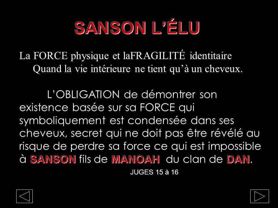 SANSON L'ÉLU La FORCE physique et laFRAGILITÉ identitaire