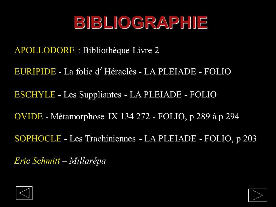 BIBLIOGRAPHIE APOLLODORE : Bibliothèque Livre 2