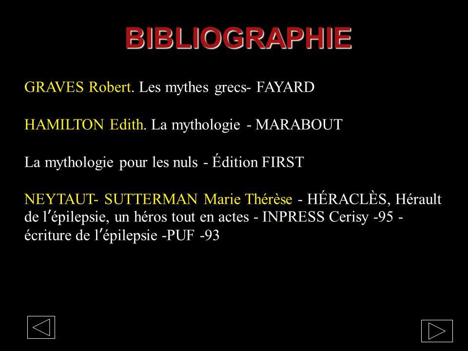 BIBLIOGRAPHIE GRAVES Robert. Les mythes grecs- FAYARD