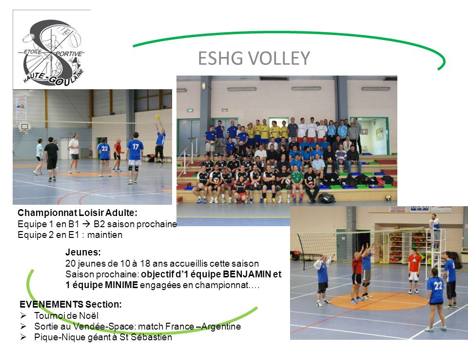 ESHG VOLLEY Championnat Loisir Adulte: