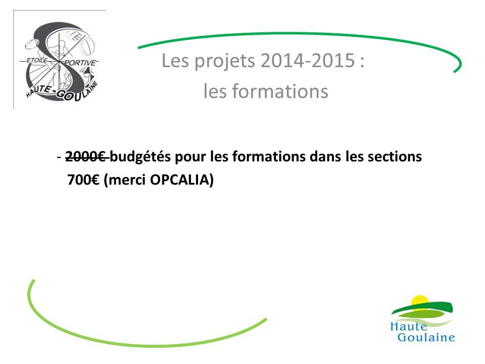 Les projets 2014-2015 : les formations