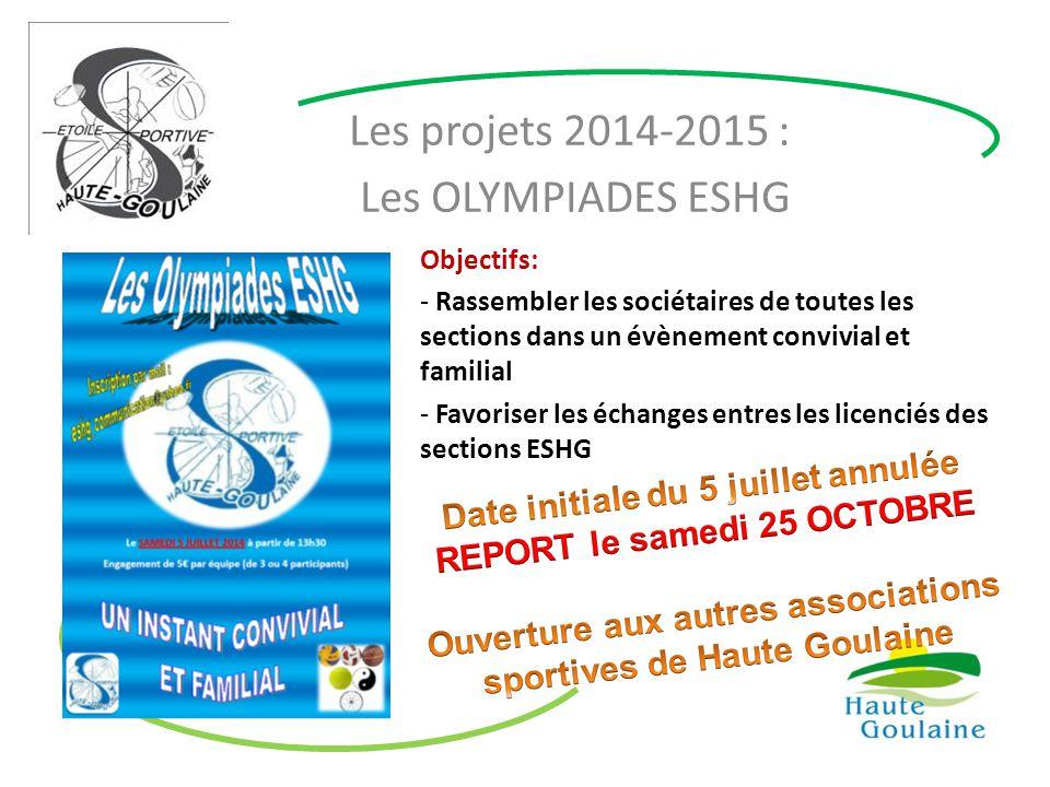 Les projets 2014-2015 : Les OLYMPIADES ESHG