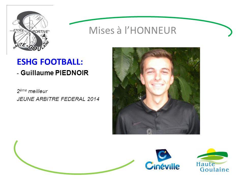 Mises à l'HONNEUR ESHG FOOTBALL: Guillaume PIEDNOIR 2ème meilleur