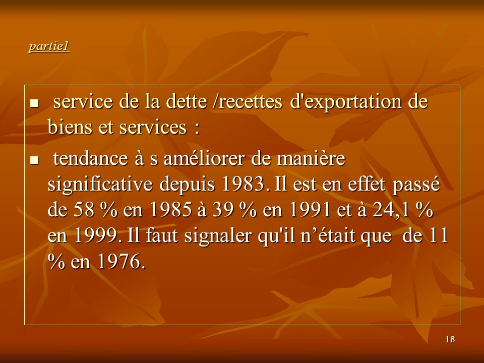 service de la dette /recettes d exportation de biens et services :
