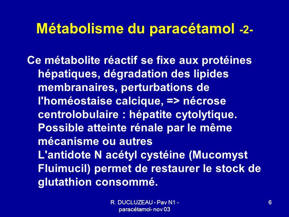 Métabolisme du paracétamol -2-