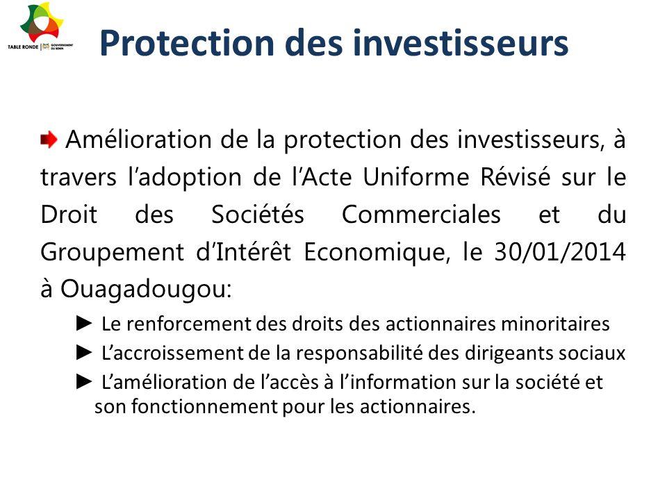 Protection des investisseurs