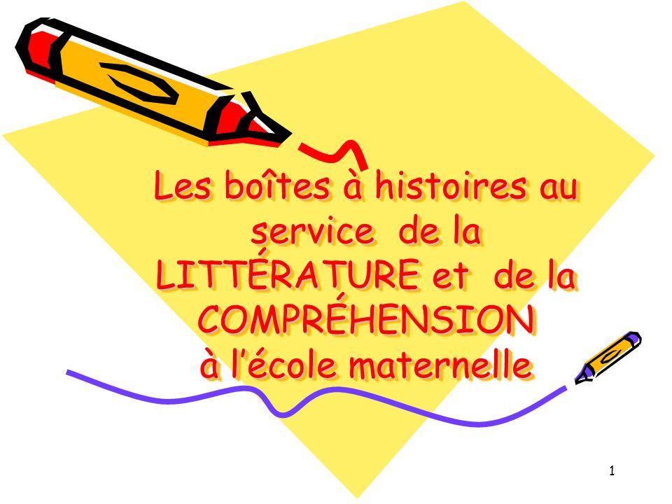 Les boîtes à histoires au service de la LITTÉRATURE et de la COMPRÉHENSION à l'école maternelle
