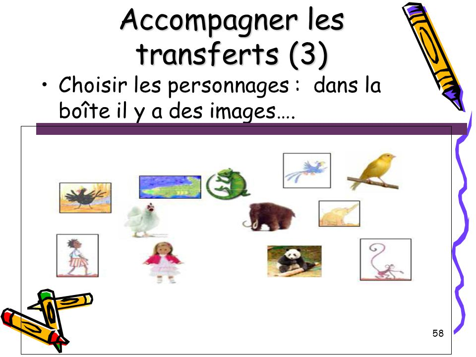 Accompagner les transferts (3)