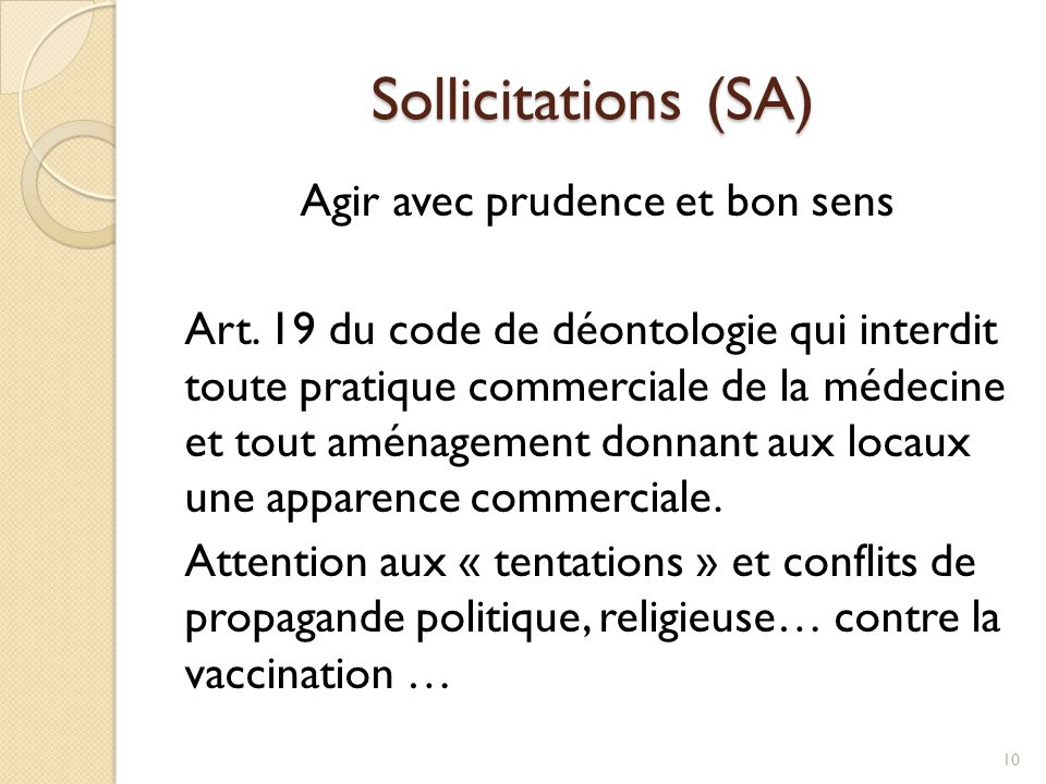 Sollicitations (SA)