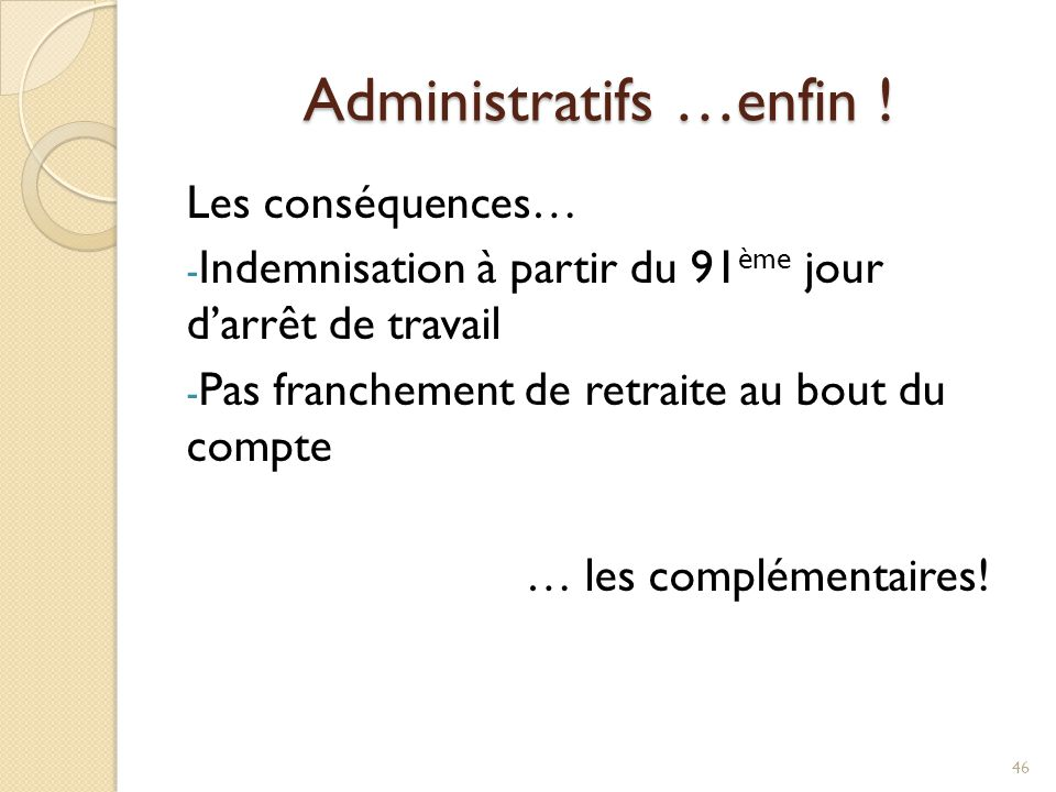 Administratifs …enfin !