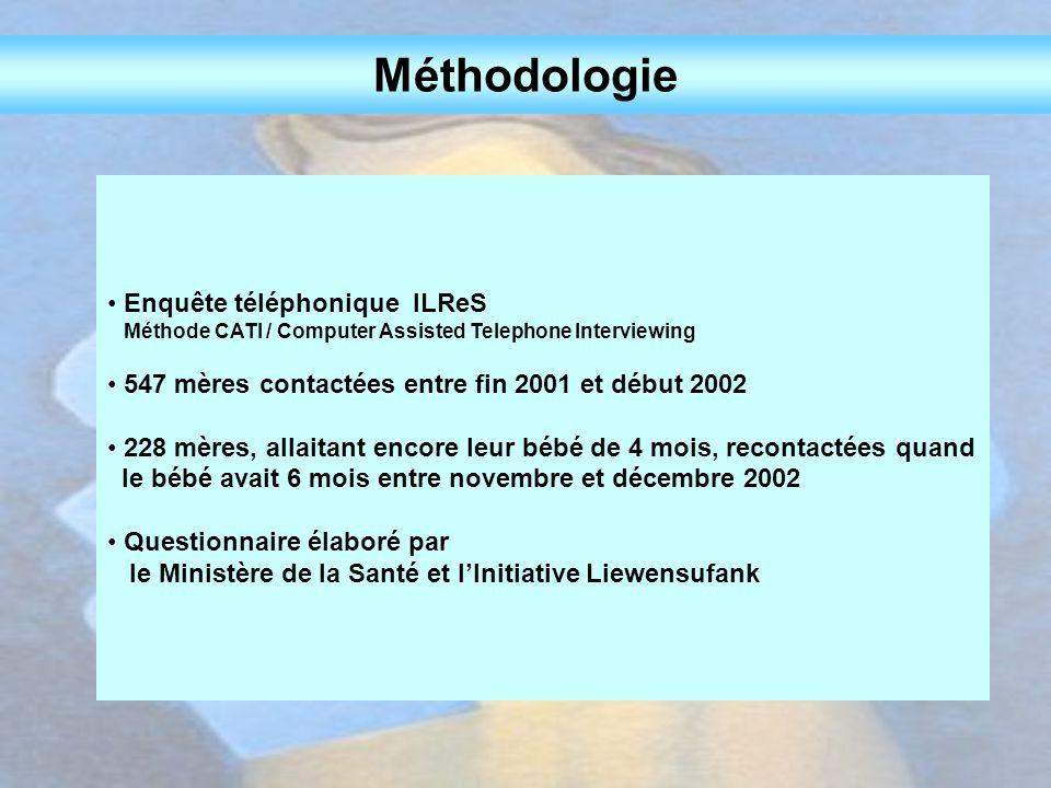 Méthodologie Enquête téléphonique ILReS