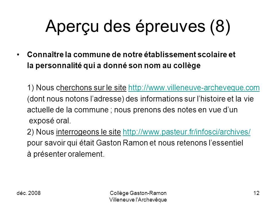 Collège Gaston-Ramon Villeneuve l Archevêque