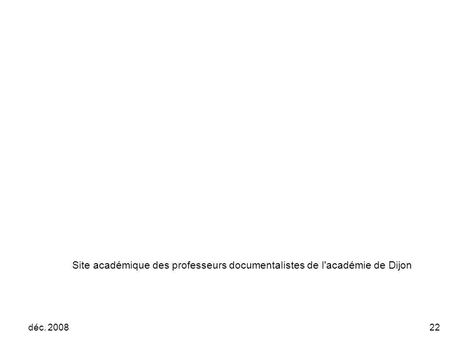 Site académique des professeurs documentalistes de l académie de Dijon