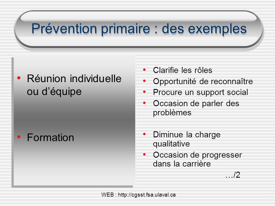 Prévention primaire : des exemples