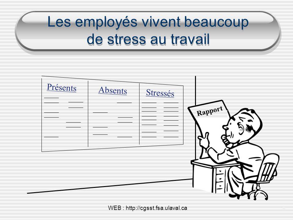 Les employés vivent beaucoup de stress au travail