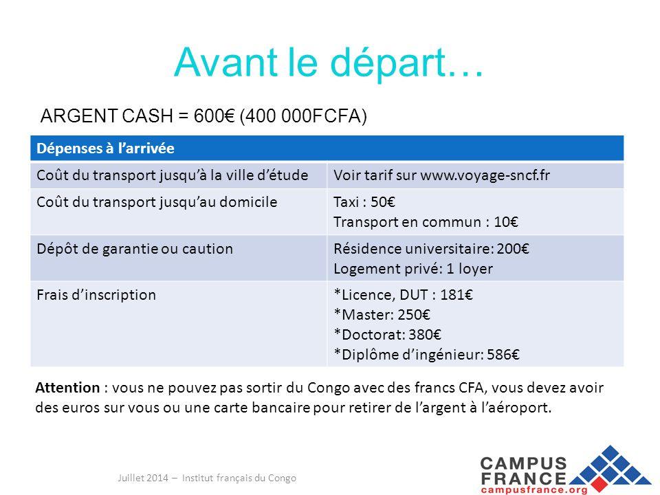 Juillet 2014 – Institut français du Congo