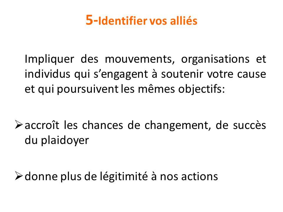 5-Identifier vos alliés