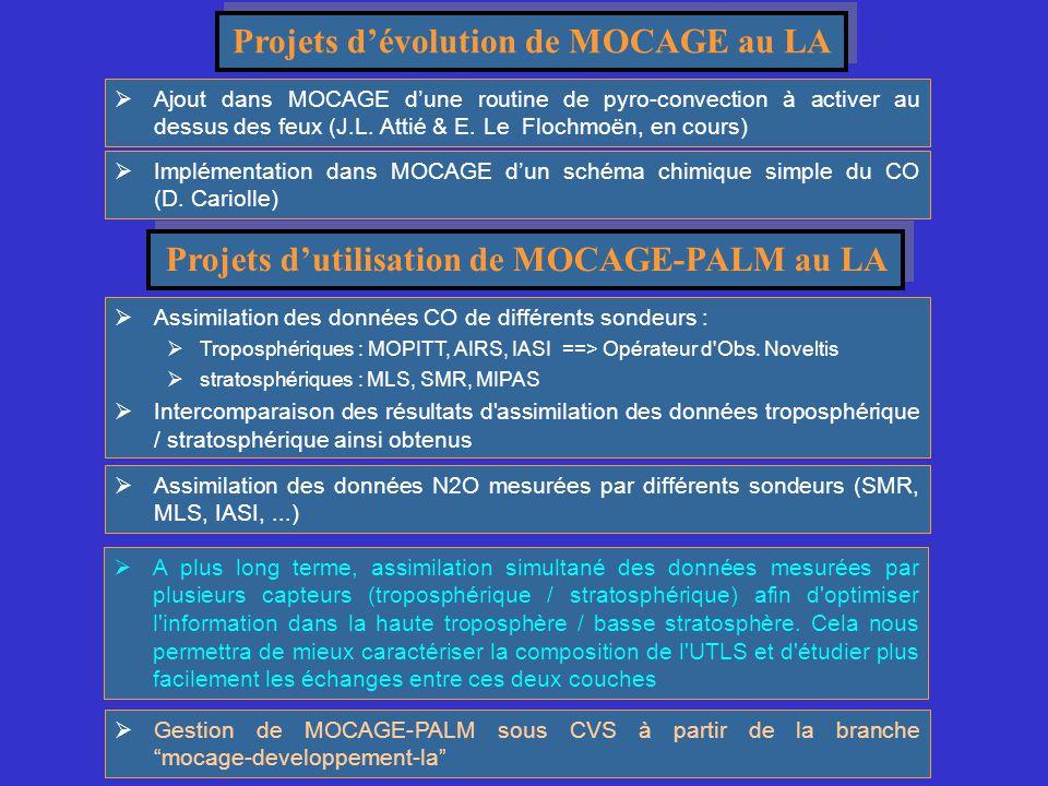 Projets d'évolution de MOCAGE au LA