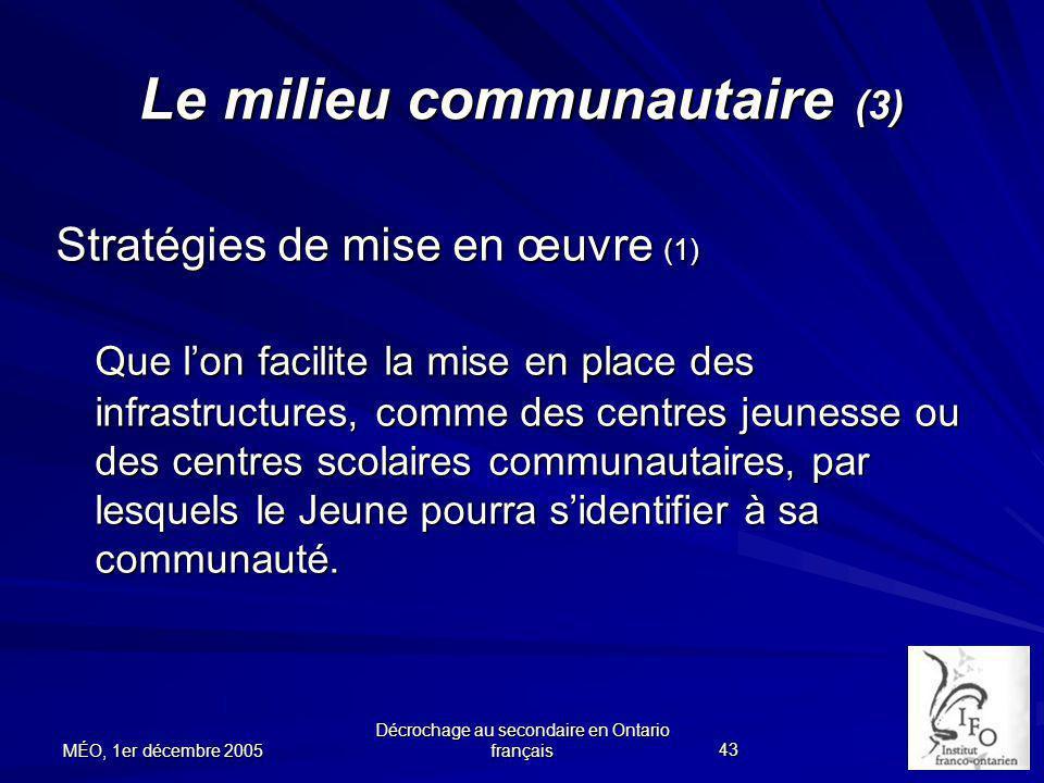 Le milieu communautaire (3)