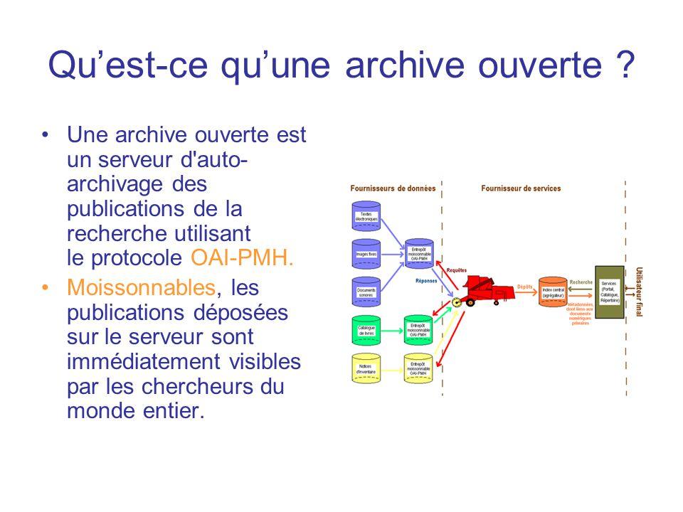 Qu'est-ce qu'une archive ouverte