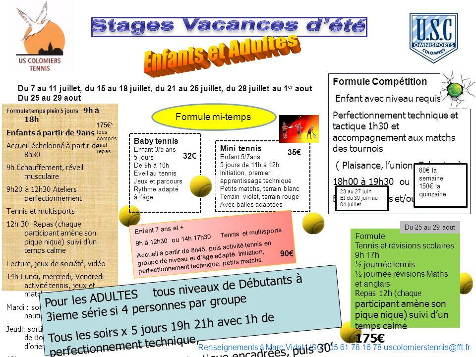 Stages Vacances d'été Enfants et Adultes