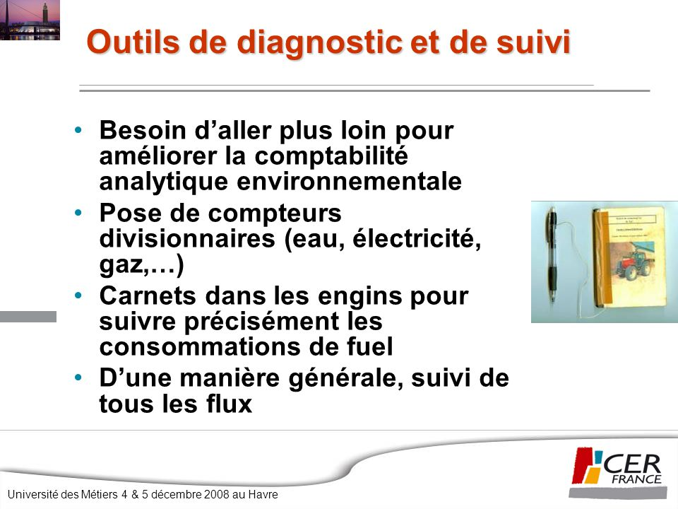 Outils de diagnostic et de suivi