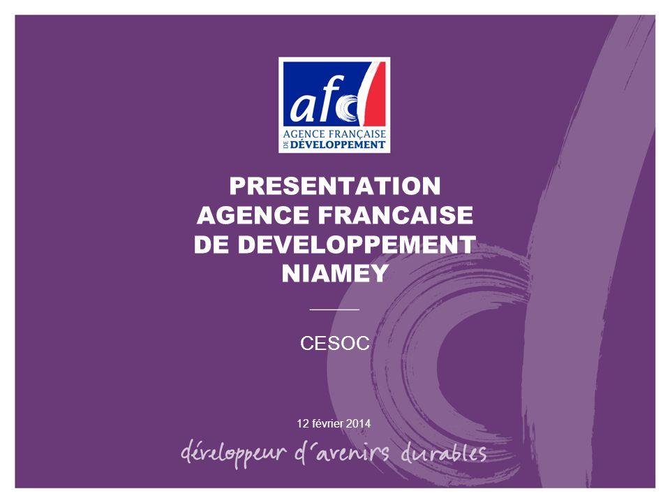 PRESENTATION AGENCE FRANCAISE DE DEVELOPPEMENT NIAMEY
