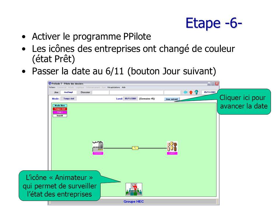 Etape -6- Activer le programme PPilote