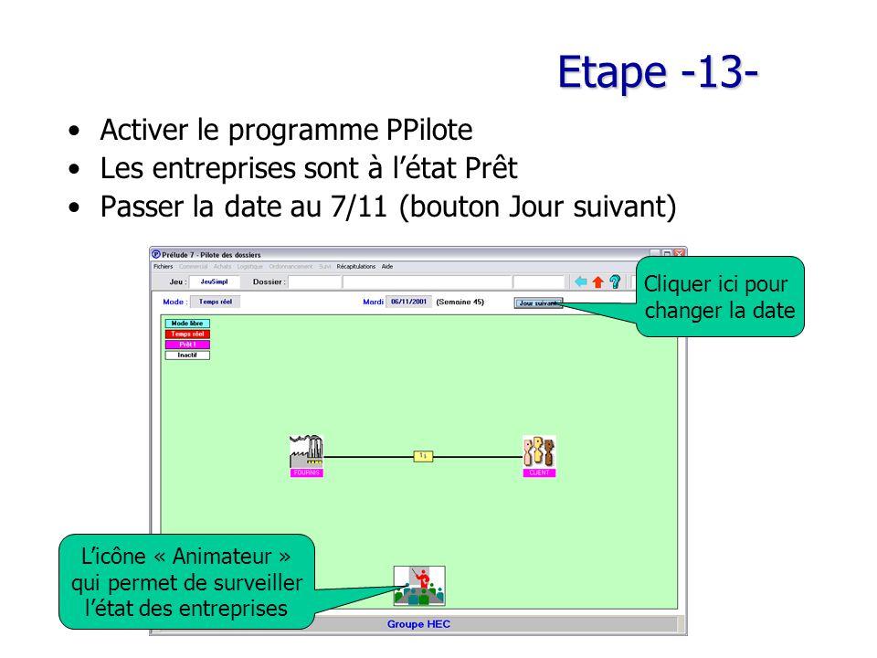 Etape -13- Activer le programme PPilote