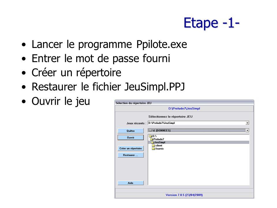 Etape -1- Lancer le programme Ppilote.exe