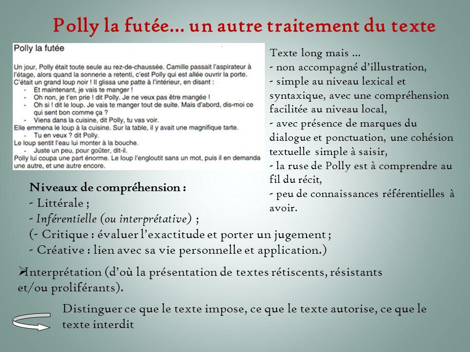 Polly la futée… un autre traitement du texte