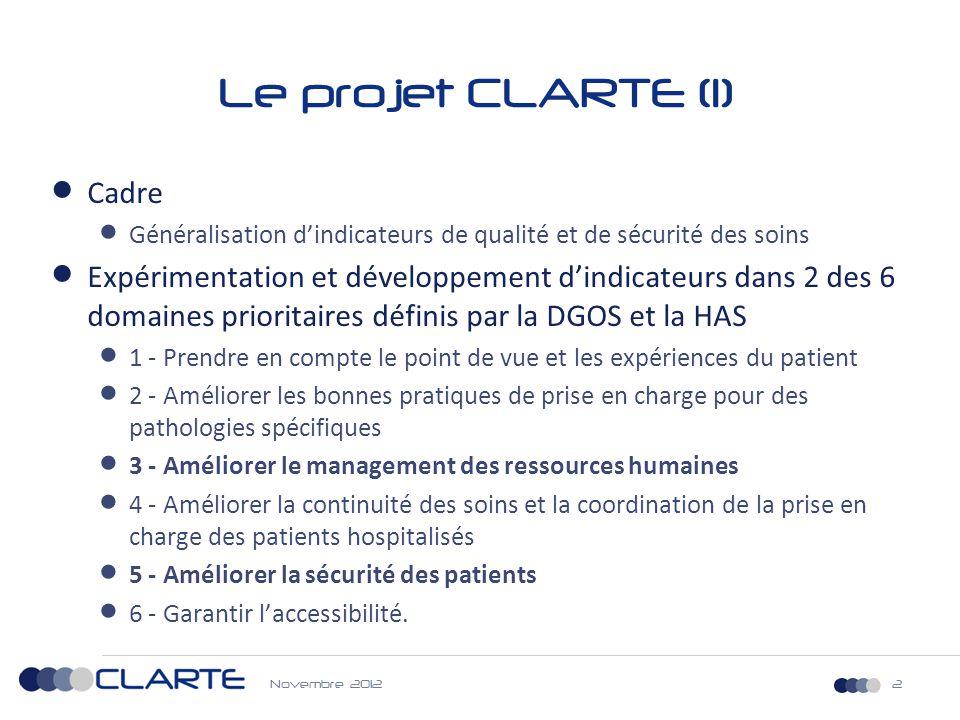 Le projet CLARTE (1) Cadre