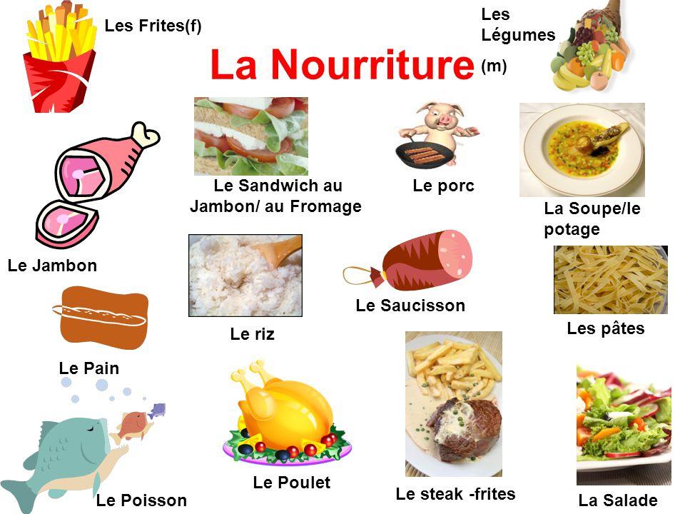La Nourriture Les Légumes (m) Les Frites(f)