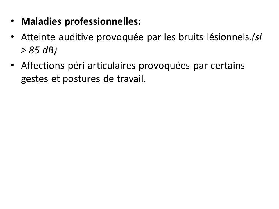 Maladies professionnelles: