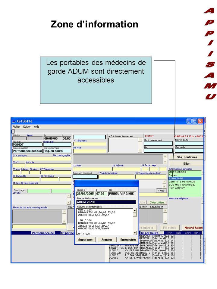 Les portables des médecins de garde ADUM sont directement accessibles