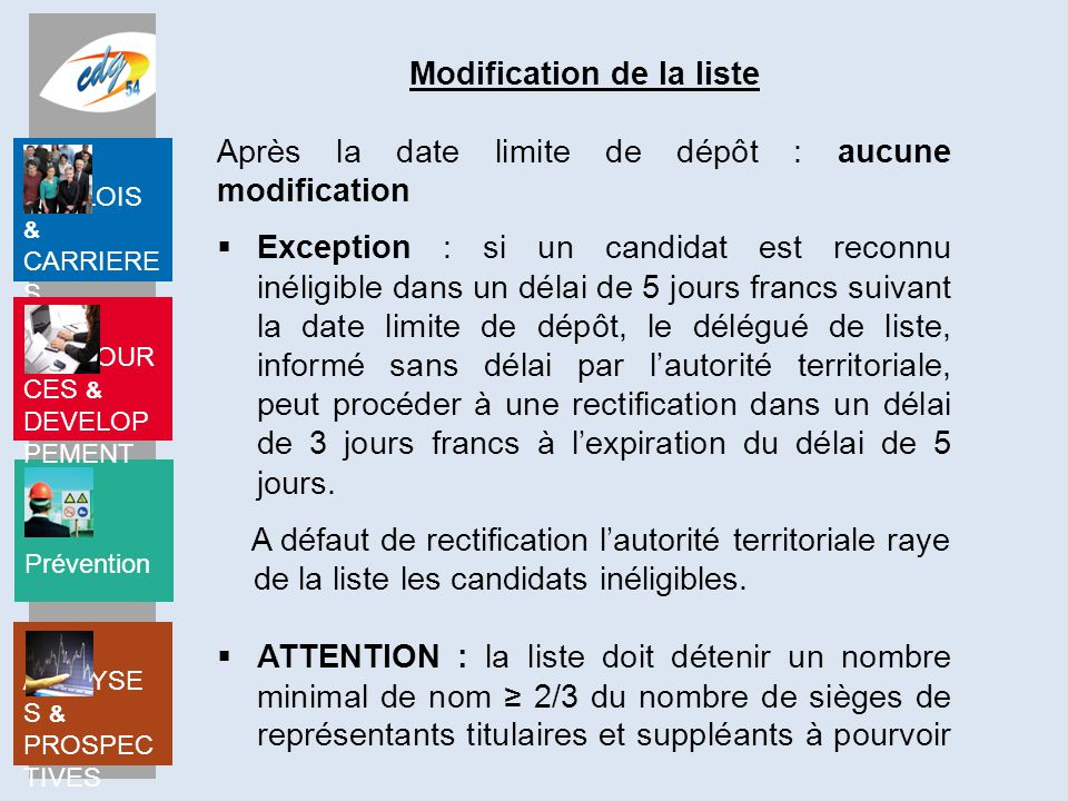 Modification de la liste