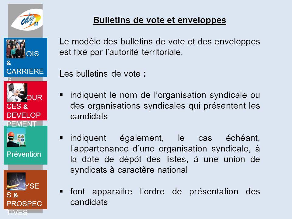 Bulletins de vote et enveloppes