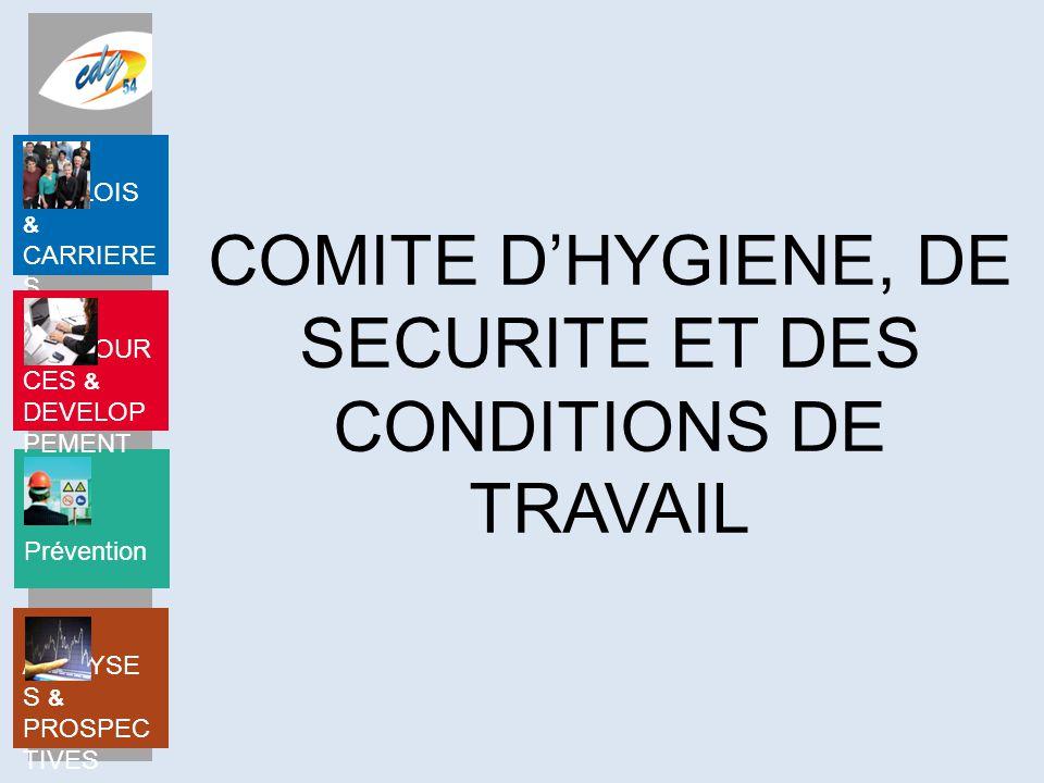 COMITE D'HYGIENE, DE SECURITE ET DES CONDITIONS DE TRAVAIL