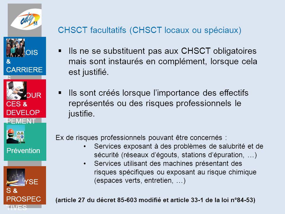 CHSCT facultatifs (CHSCT locaux ou spéciaux)
