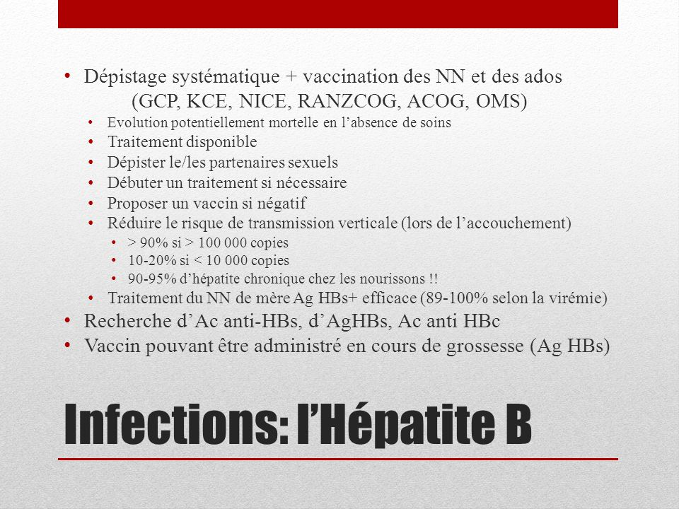 Infections: l'Hépatite B