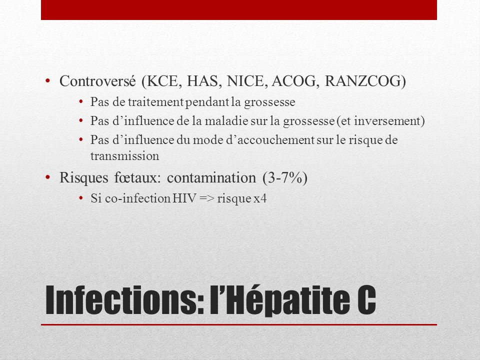 Infections: l'Hépatite C