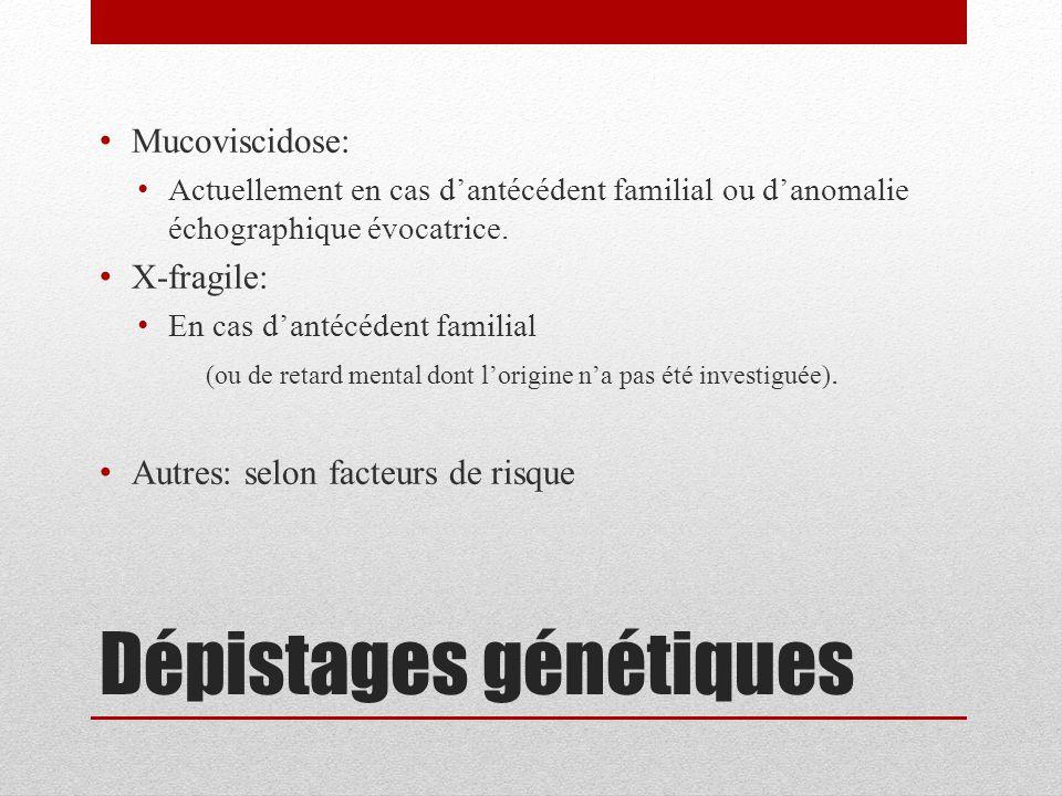 Dépistages génétiques