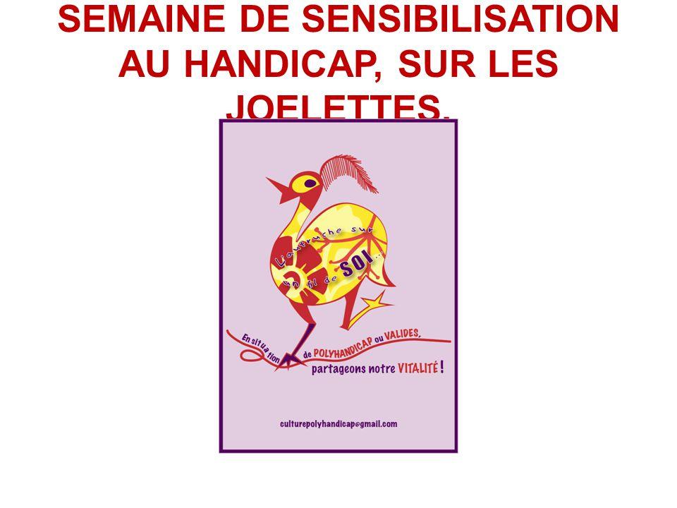 SEMAINE DE SENSIBILISATION AU HANDICAP, SUR LES JOELETTES.
